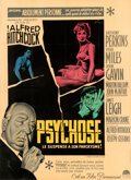 """Movie Posters:Hitchcock, Psycho (Paramount, 1960). Very Fine- on Linen. French Grande (45.5"""" X 62.5"""") Boris Grinsson Artwork.. ..."""