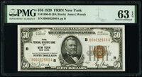 Fr. 1880-B $50 1929 Federal Reserve Bank Note. PMG Choice Uncirculated 63 EPQ