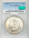 1898-O $1 Tripled 8, High O, Clashed t, VAM-13A, MS65+ PCGS. CAC. PCGS Population: (13957/2782 and 277/329+). NGC Census...