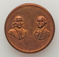 Washingtonia, Pair of Washington-Franklin/Washington-Lafayette Mules, Wright and Bale, GW-145, Copper and Silver, Mint State.. Ex: Jon H... (Total: 2 coins)
