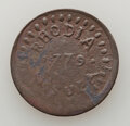 Medals and Tokens, 1779 Rhodia Orsula Halfpenny, VF20. Likely a product of C. Wyllys Betts.. Ex: Herb Bardes (4/17/1973)....