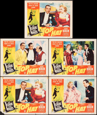 """Top Hat (RKO, R-1953). Very Fine-. Lobby Cards (5) (11"""" X 14""""). Musical. ... (Total: 5 Items)"""