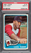 Baseball Cards:Singles (1960-1969), 1965 Topps Luis Tiant #145 PSA Mint 9 - Five Higher. ...