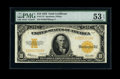 Large Size:Gold Certificates, Fr. 1173 $10 1922 Gold Certificate PMG About Uncirculated 53EPQ....