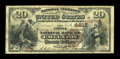 National Bank Notes:Pennsylvania, Emlenton, PA - $20 1882 Brown Back Fr. 499 The First NB Ch. # 4615....