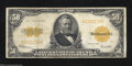Large Size:Gold Certificates, 1922 $50 Gold Certificate, Fr-1200, Fine. High denomination ...
