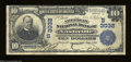 National Bank Notes:Tennessee, Nashville, TN - $10 1902 Plain Back Fr. 624 The American ...