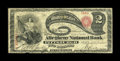National Bank Notes:Pennsylvania, Pittsburgh, PA - $2 Original Fr. 387 The Allegheny NB Ch. # 722. ...