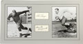 """Football Collectibles:Balls, Red Grange and Bronko Nagurski Signed Display. the matted display features 8x10"""" photos of two legends of football, Red Gra..."""