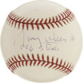 "Autographs:Baseballs, Maury Wills ""586 Steals:"" Single Signed Baseball. Known to be quitethe base nabber, Maury Wills pays tribute to his speed ..."