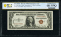 Small Size:World War II Emergency Notes, Fr. 2300 $1 1935A Hawaii Silver Certificate. PCGS Banknote...