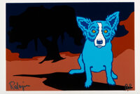 George Rodrigue (1944-2013) Bayou Baby, 1992 Silkscreen in colors on paper 11 x 17 inches (27.9 x