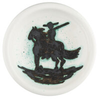 Pablo Picasso (1881-1973) Picador, 1952 Terre de faïence ashtray, painted and partially glazed 6 inches (15.2 cm) d...