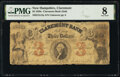 Obsoletes By State:New Hampshire, Claremont, NH- Claremont Bank (2nd) $3 Jan. 1, 1857 G12a PMG Very Good 8.. ...