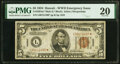 Small Size:World War II Emergency Notes, Fr. 2301* $5 1934 Mule Hawaii Federal Reserve Star Note. P...