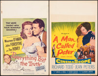 """Everything But the Truth & Other Lot (Universal International, 1956). Overall: Very Fine. Window Cards (2) (14""""..."""