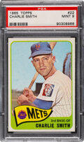 Baseball Cards:Singles (1960-1969), 1965 Topps Charlie Smith #22 PSA Mint 9 - Only One Higher!...