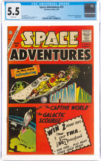 Space Adventures #33 (Charlton, 1960) CGC FN- 5.5 White pages