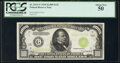 Small Size:Federal Reserve Notes, Fr. 2211-G $1,000 1934 Light Green Seal Federal Reserve Note. PCGS About New 50.. ...