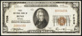 National Bank Notes:Nevada, Reno, NV - $20 1929 Ty. 1 First National Bank Ch. # 7038 Fine-Very Fine.. ...