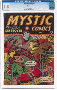 Mystic Comics #9 (Timely, 1942) CGC GD- 1.8 Brittle pages