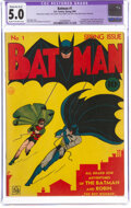 Golden Age (1938-1955):Superhero, Batman #1 (DC, 1940) CGC Apparent VG/FN 5.0 Moderate (A-3) Cream to off-white pages....