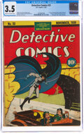 Golden Age (1938-1955):Superhero, Detective Comics #33 (DC, 1939) CGC VG- 3.5 Cream to off-white pages....