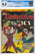 Golden Age (1938-1955):Superhero, Detective Comics #62 (DC, 1942) CGC VG 4.0 Cream to off-white pages....