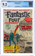 Silver Age (1956-1969):Superhero, Fantastic Four #13 (Marvel, 1963) CGC NM- 9.2 Off-white to white pages....