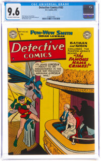 Detective Comics #183 (DC, 1952) CGC NM+ 9.6 Off-white to white pages