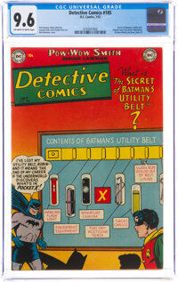 Detective Comics #185 (DC, 1952) CGC NM+ 9.6 Off-white to white pages