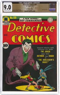 Detective Comics #69 The Promise Collection Pedigree (DC, 1942) CGC VF/NM 9.0 Off-white to white pages