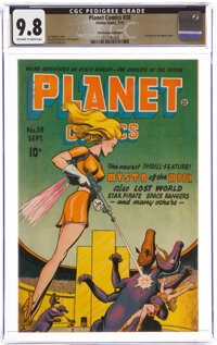 Planet Comics #38 The Promise Collection Pedigree (Fiction House, 1945) CGC NM/MT 9.8 Off-white to white pages