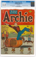 Golden Age (1938-1955):Humor, Archie Comics #1 (MLJ, 1942) CGC GD+ 2.5 Off-white pages....
