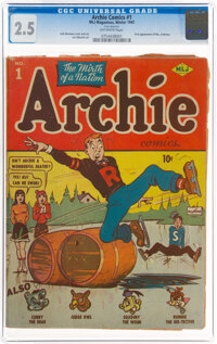 Archie Comics #1 (MLJ, 1942) CGC GD+ 2.5 Off-white pages