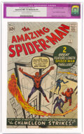 Silver Age (1956-1969):Superhero, The Amazing Spider-Man #1 (Marvel, 1963) CGC Apparent NM 9.4 Moderate (P) Cream to off-white pages....