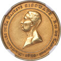 """Cambodia: Sisowath I gold """"Funeral"""" Medal 1928 MS63 NGC"""