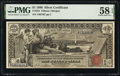 Large Size:Silver Certificates, Fr. 224 $1 1896 Silver Certificate PMG Choice About Unc 58 EPQ.. ...