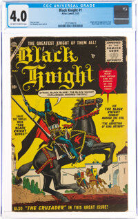 Black Knight #1 (Atlas, 1955) CGC VG 4.0 Off-white to white pages