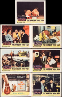 """The Harder They Fall (Columbia, 1956). Very Fine. Title Lobby Card & Lobby Cards (9) (11"""" X 14""""). Drama..."""