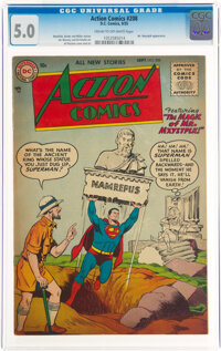 Action Comics #208 (DC, 1955) CGC VG/FN 5.0 Cream to off-white pages