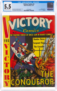 Victory Comics #4 (Hillman Publications, 1941) CGC FN- 5.5 Cream to off-white pages