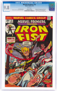 Marvel Premiere #15 Iron Fist (Marvel, 1974) CGC NM/MT 9.8 White pages
