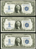 Small Size:Silver Certificates, Fr. 1606 $1 1934 Silver Certificates. Three Examples. Very Fine-Extremely Fine or Better.. ... (Total: 3 notes)