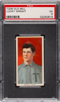 Baseball Cards:Singles (Pre-1930), 1909-11 T206 Old Mill Lucky Wright PSA EX 5 - Pop Two, Only Three Higher for Brand. ...