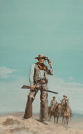 Pulp, Pulp-like, Digests and Paperback Art, Victor Prezio (American, 1924-1976) Texas Br...