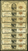 Small Size:Federal Reserve Bank Notes, Fr. 1850-G $5 1929 Federal Reserve Bank Notes. Eight Examp...