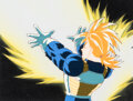 Animation Art:Production Cel, Dragon Ball Z Trunks Production Cel Setup and Animation Drawing Group of 3 (Toei Animation, c. 1989-96).... (Total: 3 )