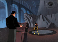 The New Batman Adventures Batgirl and Bruce Wayne Production Cel and Key Master Background (Warner Brothers, c. 1997-9...