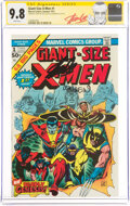Bronze Age (1970-1979):Superhero, Giant-Size X-Men #1 Signature Series: Stan Lee and Len Wein (Marvel, 1975) CGC NM/MT 9.8 White pages....